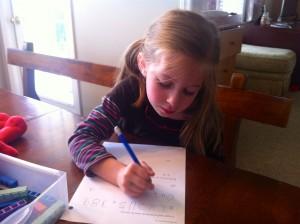 Gabby's schoolwork