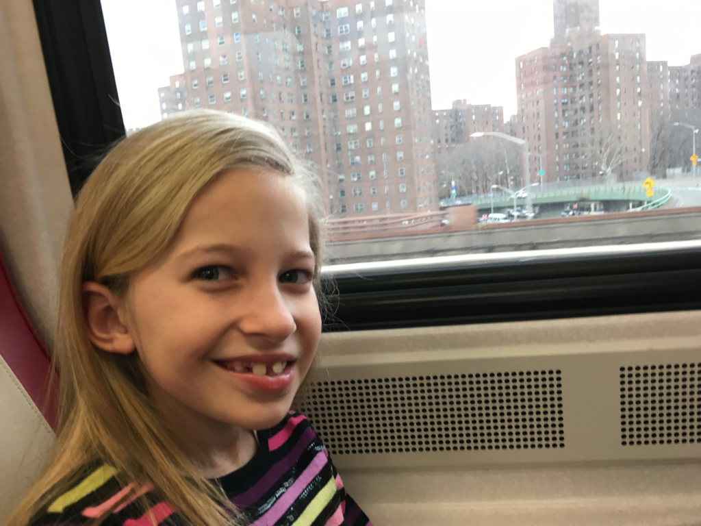 Gabby Leaving NYC by Train